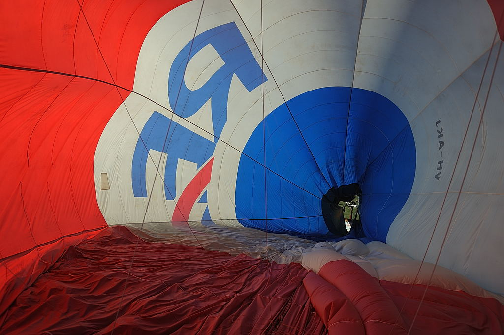 Deflation of the balloon